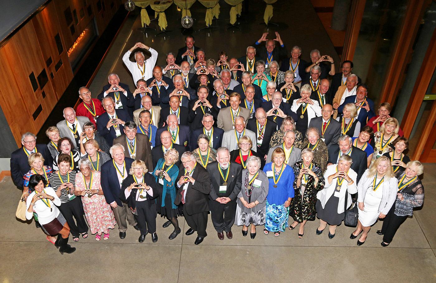 Alumni throw the O at the 50th Reunion